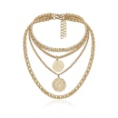 Jewelry Hip Hop Thick Chain Necklace Retro Round Card Lace Tag Necklace NHXR189704