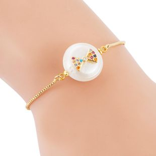 Female Bracelet Full Copper Micro Inlaid Color Zircon Pulling Adjustable Freshwater Pearl Bracelet NHLN189806's discount tags