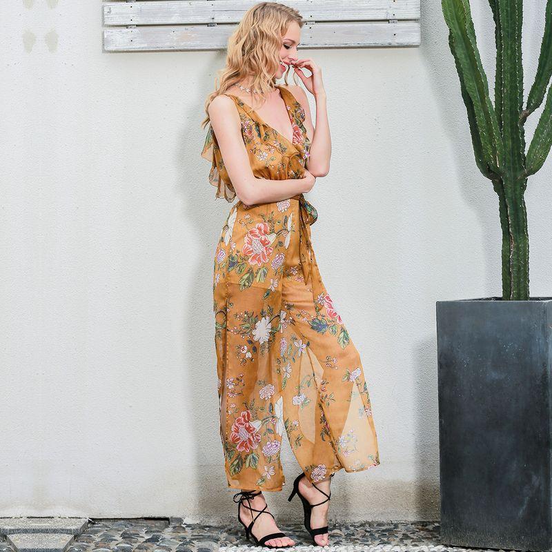 Sexy printed chiffon dress wholesale fashion women's clothes NHDE189486