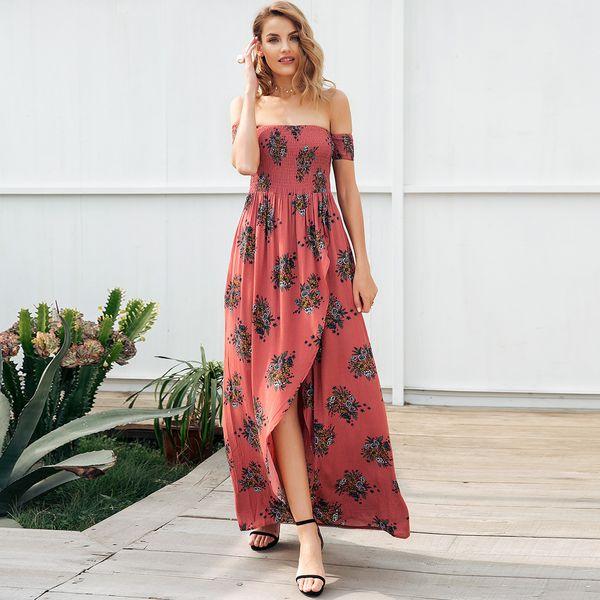 Dulce palabra impresa vestido de hombro en general ropa de mujer de moda NHDE189463