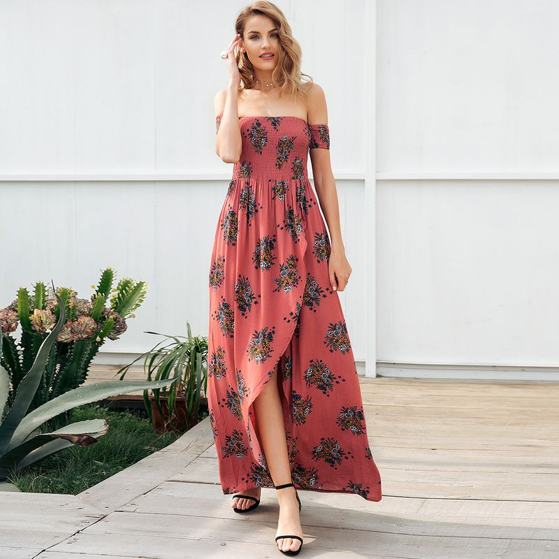 Sweet printed word shoulder dress overall fashion women's clothes NHDE189463