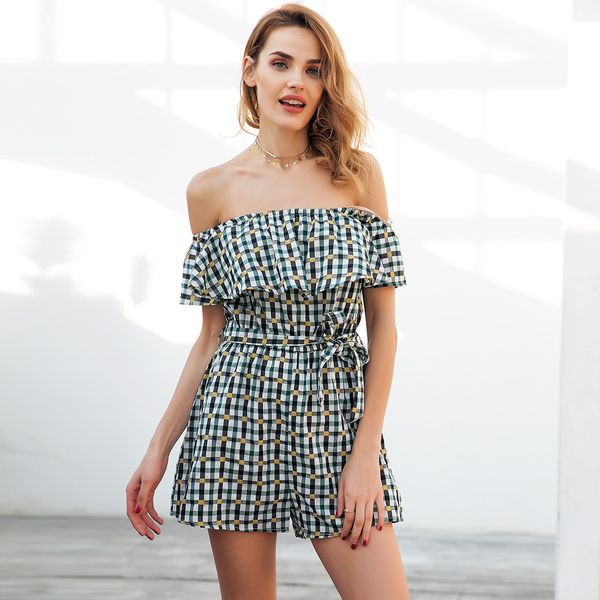 Cute print overalls fashion women's clothes NHDE189532