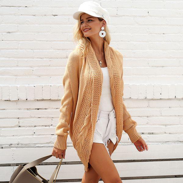 Chaqueta larga de color caqui vintage camisa abrigos ropa de mujer de moda al por mayor NHDE189529