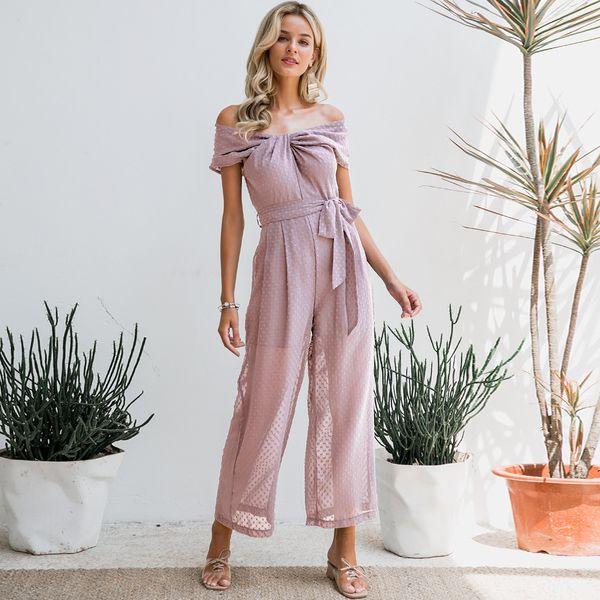 Dulce color sólido envuelto vestido de gasa en el pecho en general ropa de mujer de moda NHDE189494