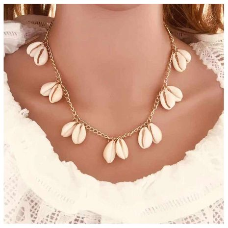 Bohemian natural shell necklace wild short clavicle chain women NHCT189827's discount tags