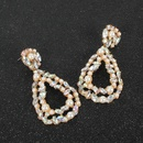 Dropshaped alloy pearl earrings NHCT189829
