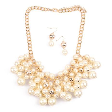 Women's Multi-layer Faux Pearl Simple Sweater Chain Tassel Necklace NHCT189832's discount tags