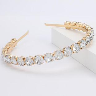 Alloy diamond round glass diamond headband female super flash full diamond high-end headband headdress NHJE189833's discount tags