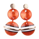 Metal Small Round Acrylic Size Round Colored Earrings Stud Earrings NHJQ189859