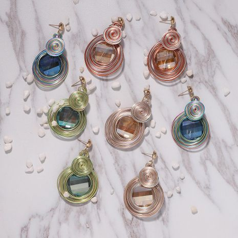Explosive alloy gemstone earrings NHJQ189863's discount tags
