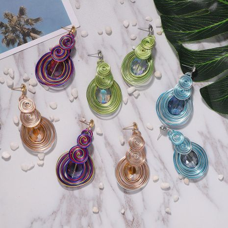 New alloy gem earrings NHJQ189865's discount tags