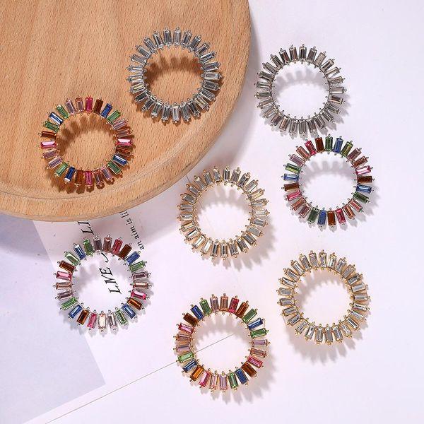 Rhinestone earrings simple temperament earring accessories fashion large earrings NHJQ189869