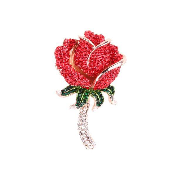 Pickaxe shiny brooch oversized rose brooch wild fashion brooch NHJQ189881