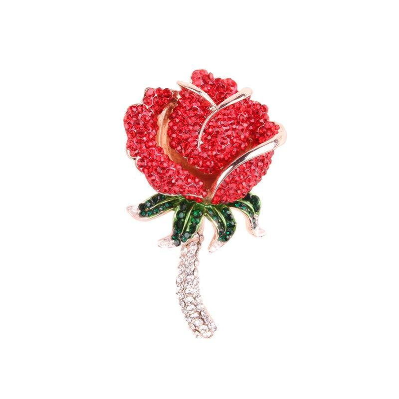 Pickaxe shiny brooch oversized rose brooch wild fashion brooch NHJQ189881