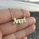 Fashion simple wind letter Angel necklace popular personality angel clavicle chain NHNZ189889