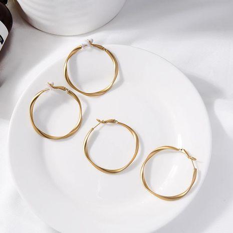 Alloy earrings fashion simple geometric earrings hoop earrings women NHQD189923's discount tags