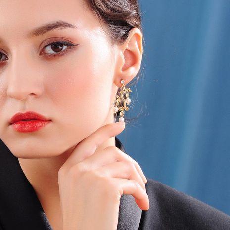 Winter earrings 925 silver needle wild pearl earrings new branch earrings women NHQD189932's discount tags