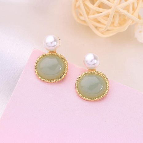 Korean version of the geometric circle earrings fashion pearl earrings female new ear clip NHQD189934's discount tags