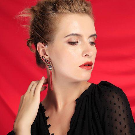 Women's Long Pearl Earrings with Tassel Earrings NHQD189935's discount tags