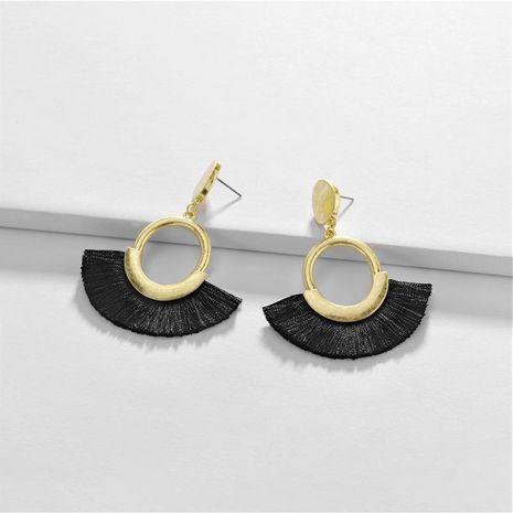 Earring Alloy Geometry Spike Fan Tassel Female Earrings New NHLU189961's discount tags