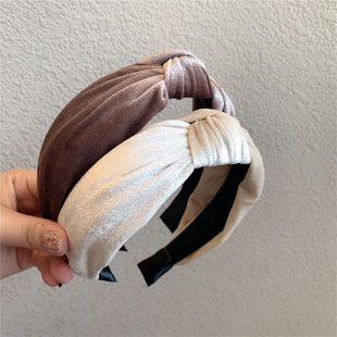Explosion models gold velvet fabric solid color wide edge hair hoop headband hair wholesale women NHOF189970's discount tags