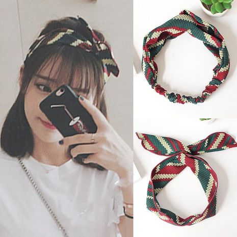 Bandeau simple à large bord Bandeau Sweet Cross Rabbit Ear Headband NHOF189985's discount tags