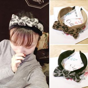 Autumn and winter new mohair bow sweet adult lady wide-brimmed headband simple NHOF190000's discount tags