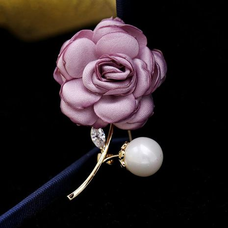 2018 Brooch Simple Fabric Pin Delicate Rose Elegant Accessories Retro Accessories Coat Sweater Accessories NHDO190048's discount tags