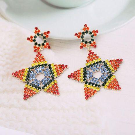 S925 Silver Pin Fashion Contrast Earrings Rainbow Geometric Stud Earrings NHDO190054's discount tags