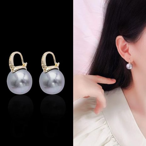 Earrings new fashion niche temperament pearl personality earrings NHDO190062's discount tags