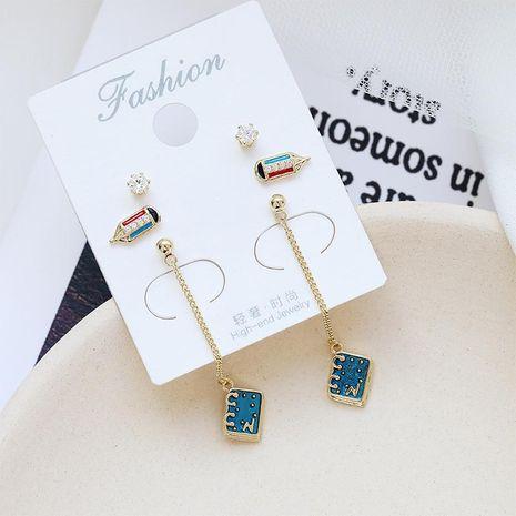 Geometric six-piece earrings female simple wild S925 silver needle earrings NHDO190078's discount tags