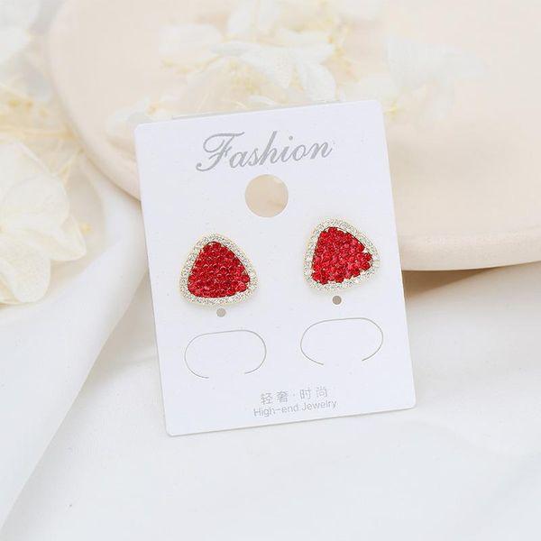 925 Tremella needle fashion red love earrings women NHDO190082