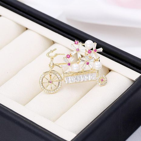 Fashionable Korean Ms. Creative Tide Bicycle Lovers Brooch Corsage Bicycle Corsage Temperament Simple Female Brooch NHDO190084's discount tags