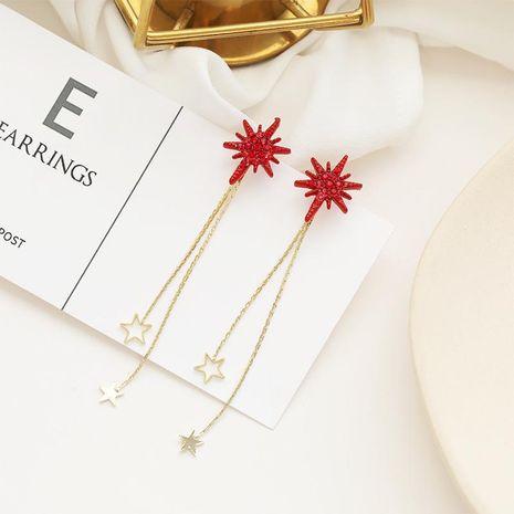 Big red irregular earrings asymmetrical NHDO190085's discount tags