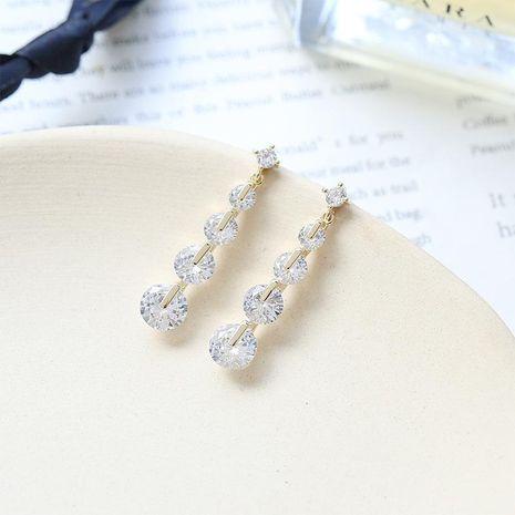 Shiny zircon earrings 2019 new women's earrings NHDO190088's discount tags
