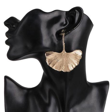 New plating metal ginkgo leaf earrings NHJJ190092's discount tags