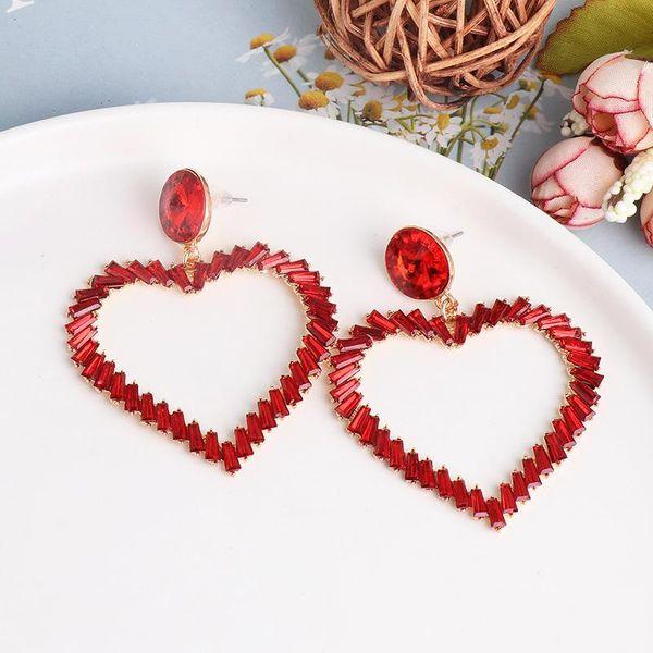 Heart Earrings Heart Shaped Red Vintage Earrings NHJJ190095
