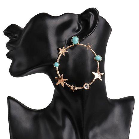New plating star stud earrings geometric star earrings wholesale NHJJ190096's discount tags