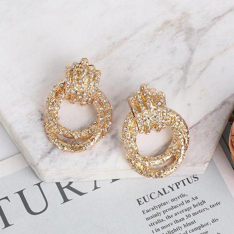 New micro inlay earrings twist earrings wholesale NHJJ190103's discount tags