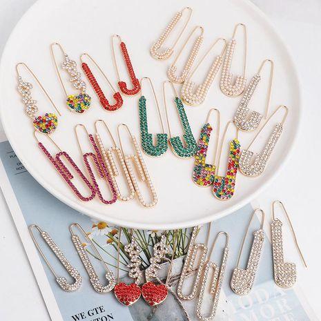New creative earrings retro pin personality delicate earrings women NHJJ190110's discount tags
