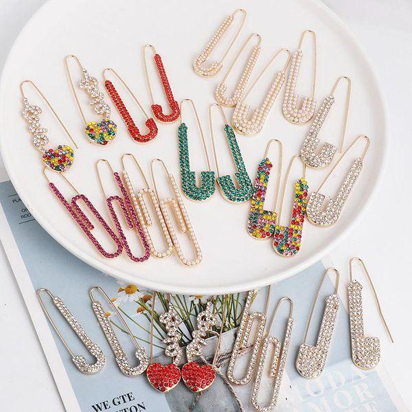 New creative earrings retro pin personality delicate earrings women NHJJ190110