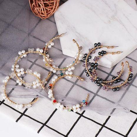 C-shaped pearl earrings female temperament delicate fashion earrings popular earrings wholesale NHJJ190114's discount tags