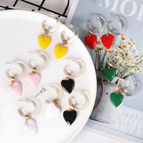 Exaggerated earrings heart earrings women NHJJ190117's discount tags