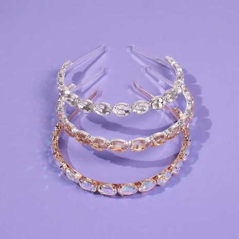 Hairpin glass brick simple thin-edged hair clip headdress ornaments NHMD190124's discount tags