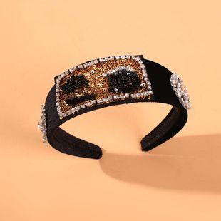 Headband retro wide-brimmed hair accessories ladies style fashion headband NHMD190127's discount tags