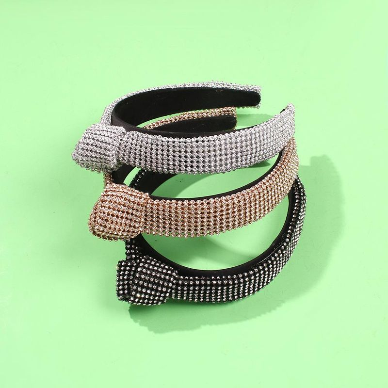 Baroque hair hoop vintage wide-edge diamond hair accessories delicate knotted headband sweet NHMD190129