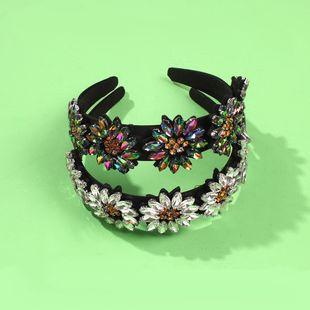 Baroque headband luxury glass diamond headband luxury hair accessory NHMD190131's discount tags