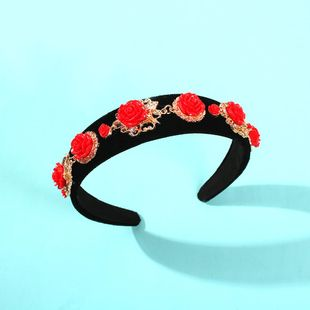Hair band exquisite antique vintage court headband wide-brimmed hair accessories NHMD190132's discount tags