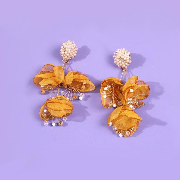 New Mizhu Earrings Fashion Wild Flower Earrings Diamond Earrings NHMD190134