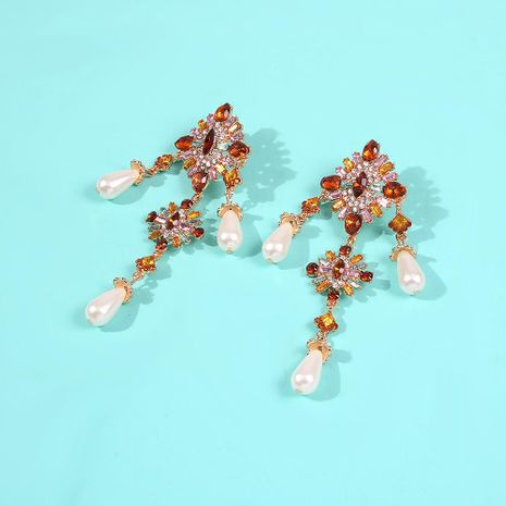 Color-block earrings NHMD190135's discount tags